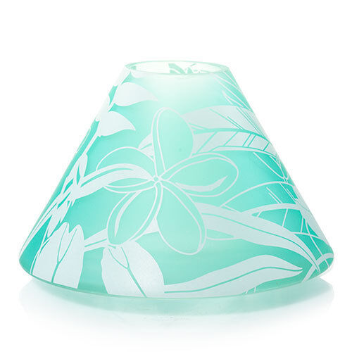 NEW!~YANKEE CANDLE~Tahitian Mist Frosted Glass Jar Shade For Medium//Large~Beach