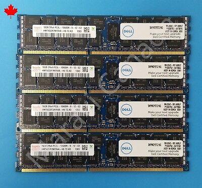 64GB 4x16GB PC3-10600R 1333MHz DDR3 ECC Reg Memory Dell PowerEdge M710 Server