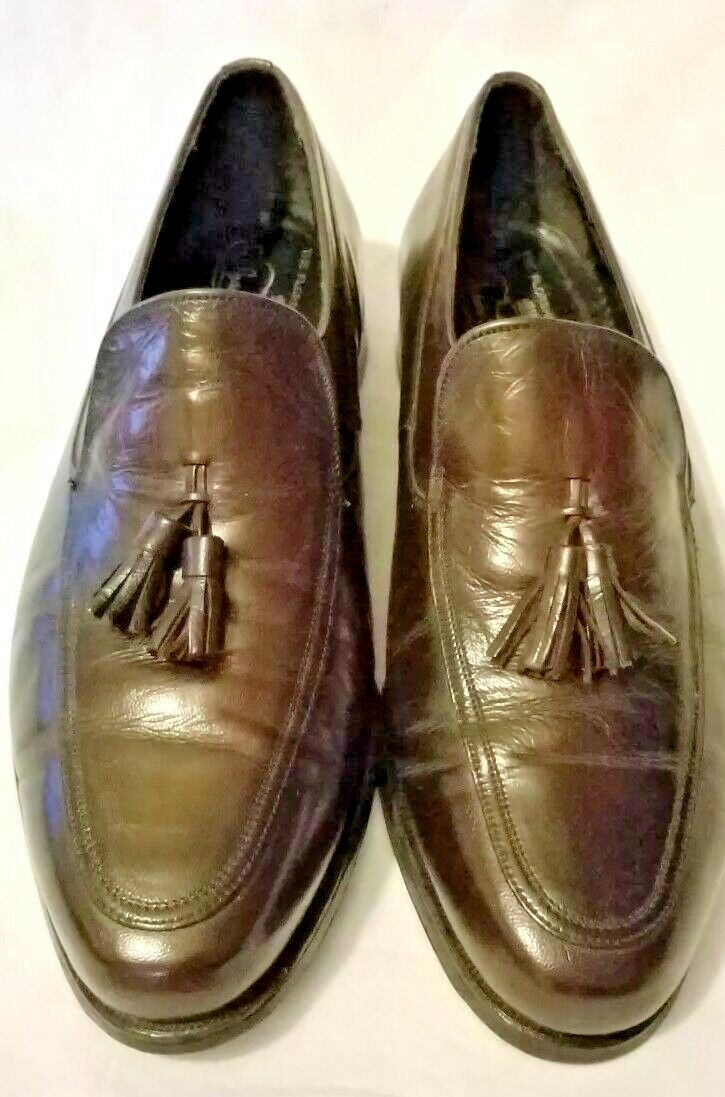 VTG Florsheim Men Loafer Imperial 10.5 D Tassel  Leather Dress Slip On shoes