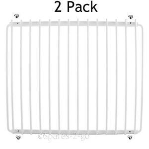 2 X Blanc Réfrigérateur étagère Pour Samsung Réfrigérateur Couché Plastique Extensible Rack-afficher Le Titre D'origine
