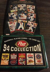 Details About 1994 Post 30 Card Baseball Set Mike Piazza Rookie