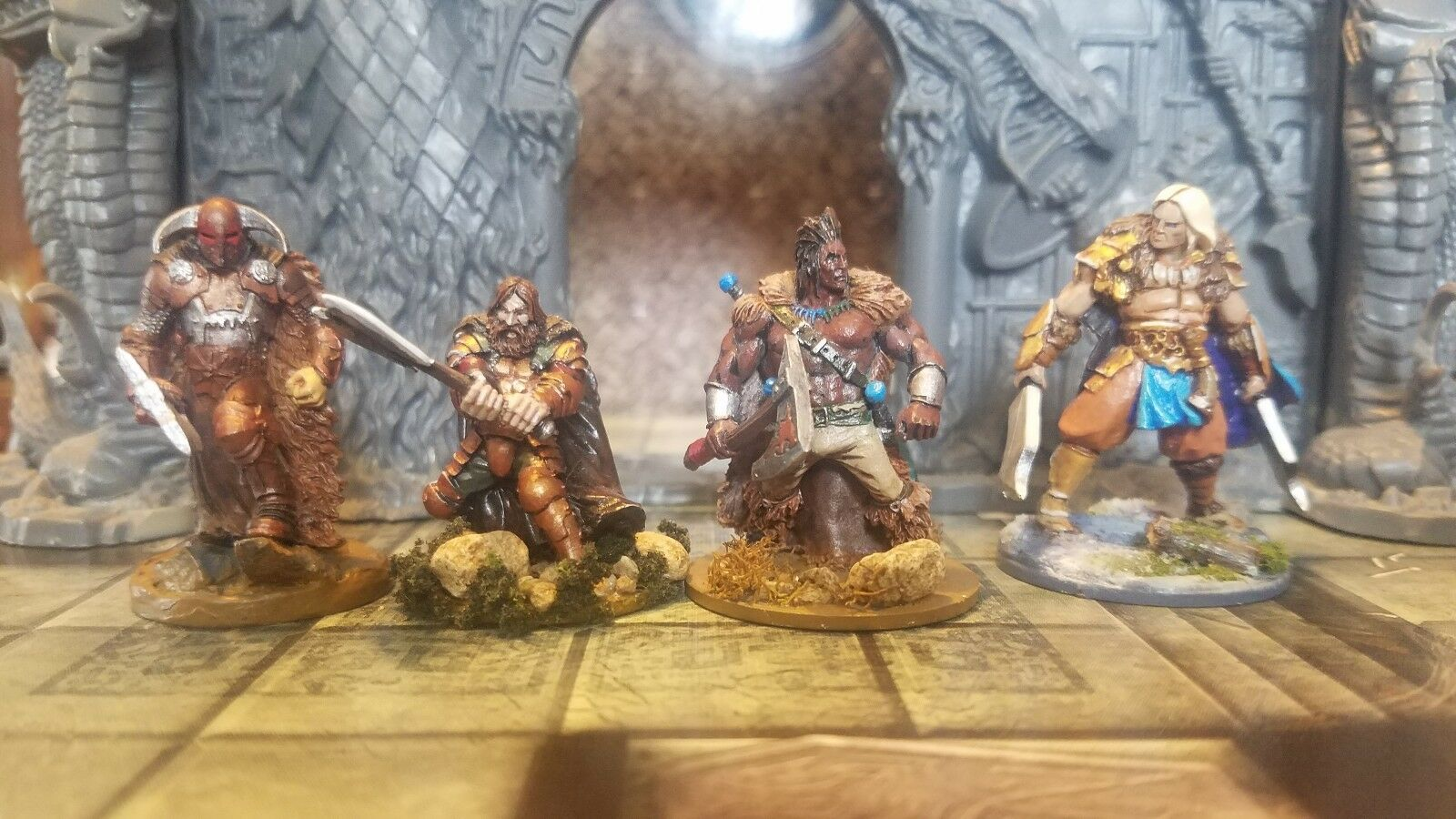 28-32mm Barbarian Miniatures Professionally Painted For Table Top Gaming.