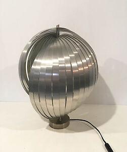 lampe 39 moon 39 grand mod le des ann es 70 39 s henri mathieu vintage ebay. Black Bedroom Furniture Sets. Home Design Ideas