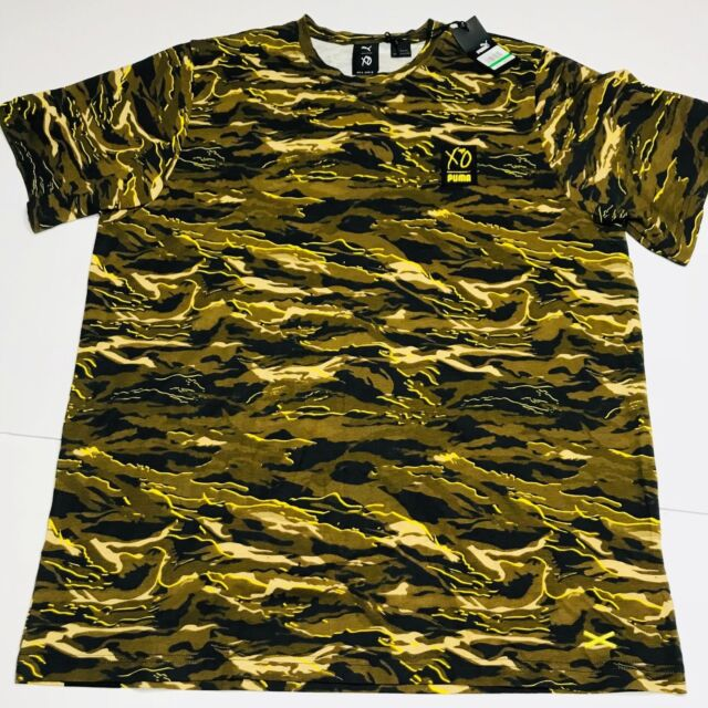 e4a840ca3 PUMA x XO The Weeknd Graphic Tee Shirt T Camo Camouflage AOP Medium M 575351 -
