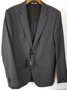 6f0465fc HUGO BOSS Genuine James Sharp Mens Suit Charcoal Top Jacket NEW SIZE ...