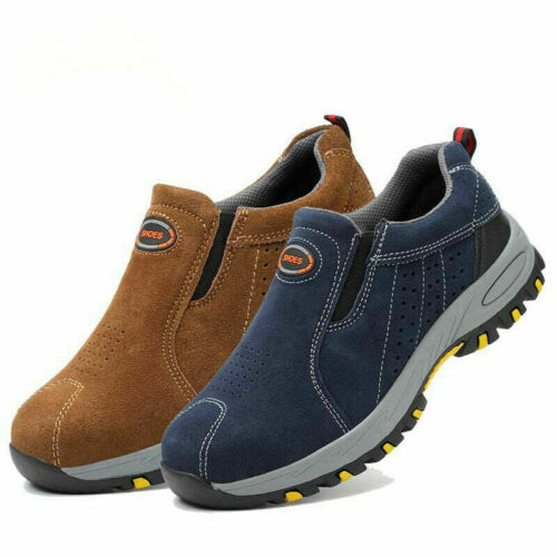 Steel Toe Safety Work Shoes Men Slip On Casual Boots Labor Insurance Puncture