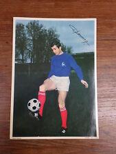 Grande Photo FOOTBALL EQUIPE FRANCE WC ENGLAND 1966 PUB CALTEX Gerard HAUSSER