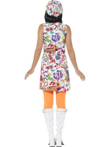 Donna 60s 1960s Groovy Chick Hippy Hippie Costume da Smiffys