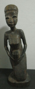 ANTIQUE-HAND-CARVED-WOOD-FEMALE-WOMAN-AFRICAN-TRIBAL-FIGURE-6-5-034