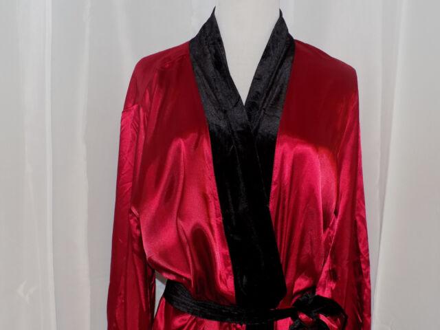 Womens New Morgan Taylor Long Silky Robe New Royal Red S/M, L/XL, XXL