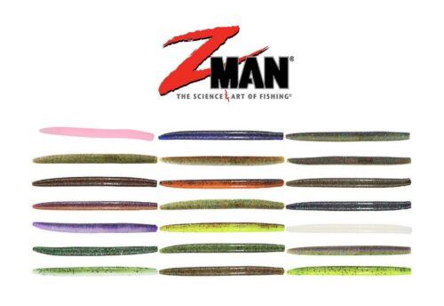 """Z Man ZinkerZ Elaztech Stick Bait Worm Choice of Colors 5/"""" Long  6 per pack"""