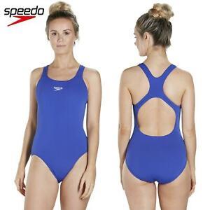 2505e834e307 Detalles de Speedo Para Mujer Endurance + medallista Natación Traje azul  resistente al cloro- ver título original