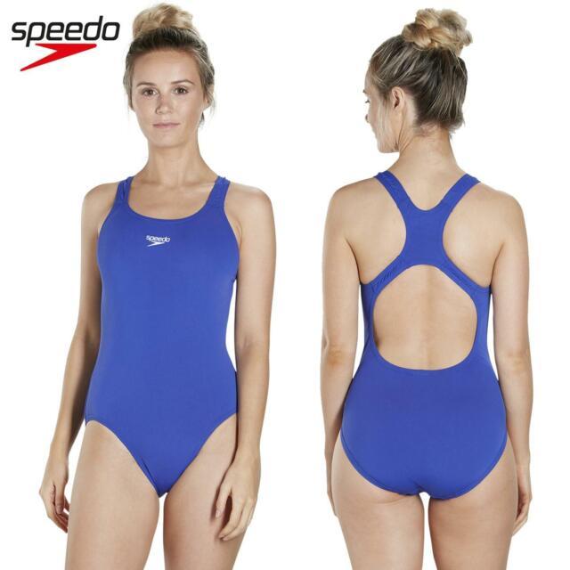 online bestellen ontmoeten groothandel Speedo Womens Endurance+ Medalist Swimming Costume Blue Chlorine Resistant