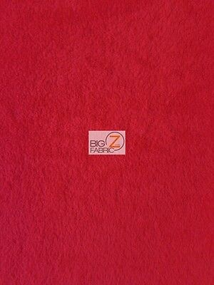 "SOLID POLAR FLEECE FABRIC Anti-Pill 60"" - Red - Sold By The Yard"