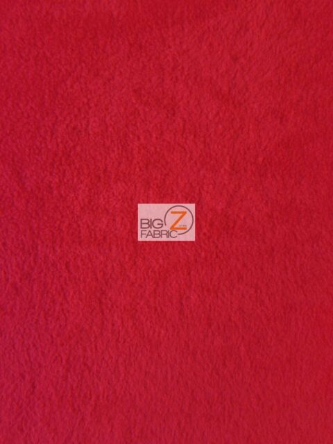 """SOLID POLAR FLEECE FABRIC Anti-Pill 60"""" - Red - Sold By The Yard"""