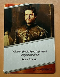 2021 Rittenhouse Game Of Thrones Iron Anniversary Robb Stark Metal Expressions