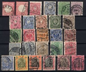 P135651-GERMANY-YEARS-1872-1900-USED-CLASSIC-LOT-CV-138