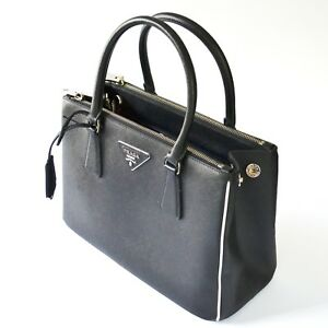 7a2ee7ae58c8 Image is loading New-Prada-1BA863-F0N12-Galleria-Saffiano-Lux-Leather-