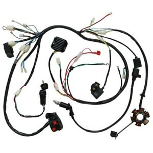 Electric-Wiring-Harness-Kit-Magneto-Stator-GY6-125-150cc-ATV-Quad-Scooter-US