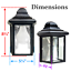 Outdoor-Porch-Light-LED-Bulb-9-034-Black-Fixture-with-Clear-Glass-Panes-458-06 thumbnail 5
