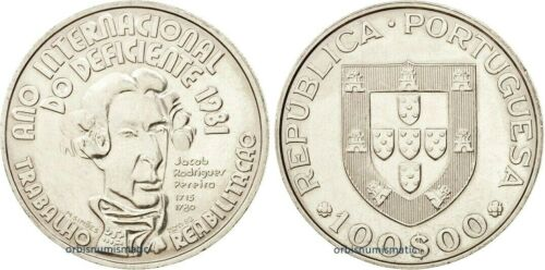 1981 PORTUGAL 100 Escudos INTERNATIONAL YEAR OF DISABLED 100$00 UNC Coin G40