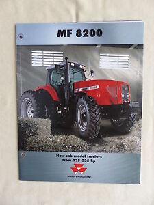 0645) Massey Ferguson Mf 8200 - Poster - Us-prospekt Brochure 08.1999 Usa