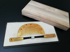 Vintage-Japanese-Comb-and-Kogai-hairpin-Y8802-UZK