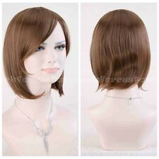 Womens Fashion Cosplay Wig Lady Curly Wavy Hair Party Costume Full Wigs+ Wig Cap