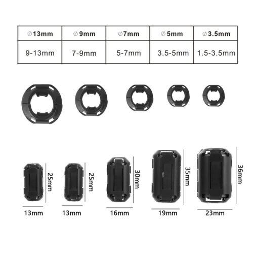 20tlg Klapp Ferrit Filter Mantel Strom Ferritkern Entstörung Für 3,5-13mm Kabel