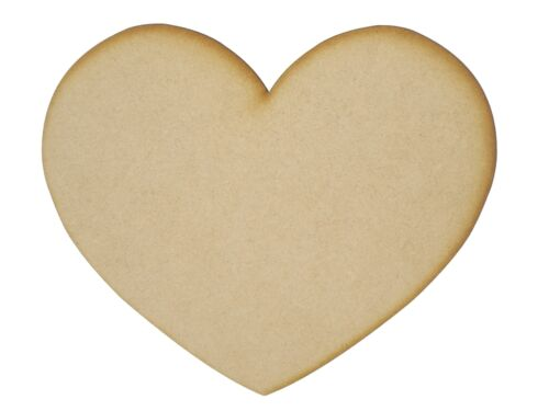 MDF Heart Wooden Shapes 7.5cm 75mm High 3mm Thick Cus Cut x 10 pieces 033