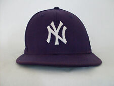 New Era 59Fifty New York Yankees Purple/Wht Fitted Cap Size 7 5/8