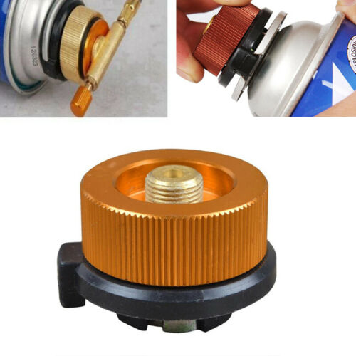Details about  /2PCS Picnic Burner Cartridge Gas Fuel Canister Stove Cans Adapter Converter Head