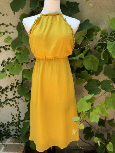 Reformation Yellow Halter Dress, Size XS