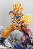 Dragonball KAI Father-Son Goku Gohan Kamehameha Resin Statue Diorama Anime Ver.1