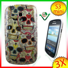 2X Pellicola +Custodia rigida TESCHI Samsung Galaxy S3 mini i8190 cimitero cover