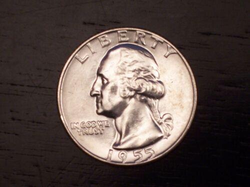 1955 D Washington Quarter unirculated Moeda De OBR Frete Grátis