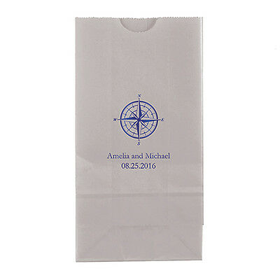 Prime 50 Vintage Travel Compass Personalized Printed Wedding Favor Bags Candy Buffet Ebay Home Interior And Landscaping Palasignezvosmurscom