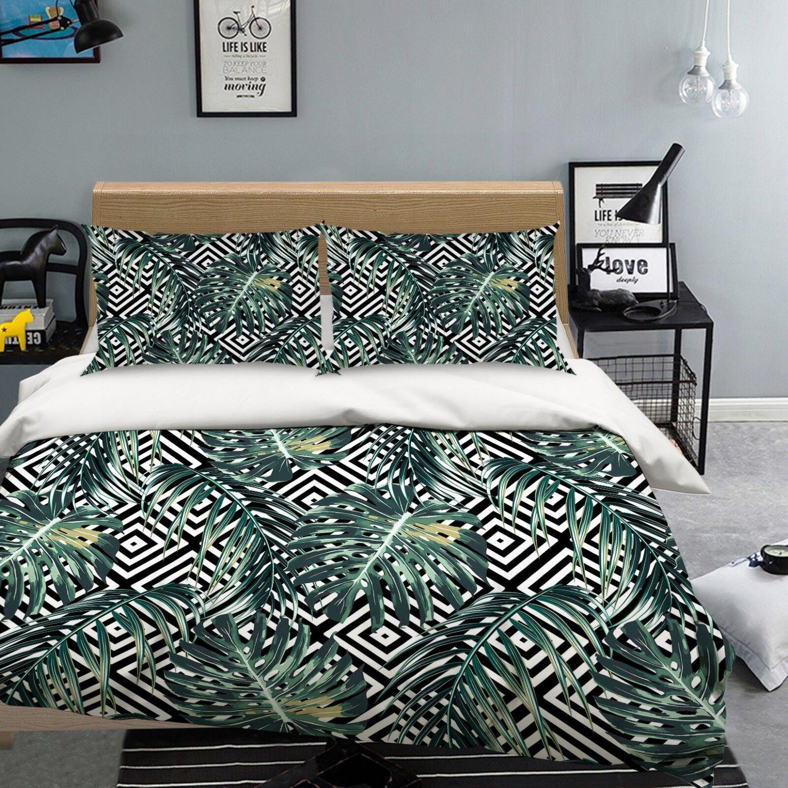 3d di colore verde 24 Federe Letto steppe de duvet set soffitto single regina de steppe cd4aaa