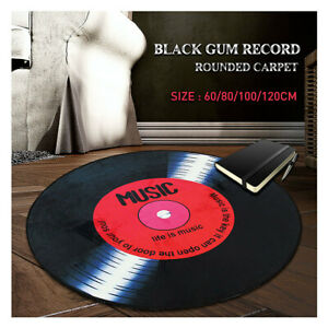 Vinyl-Record-Printed-Round-Soft-Floor-Mat-Carpet-Bedroom-Living-Room-Area