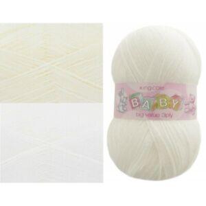 King-Cole-Baby-Big-Value-3-Ply-Knitting-Yarn-Wool-100g-Ball-Acrylic-Knit