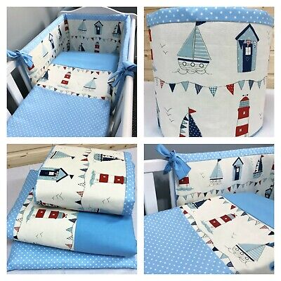 BOYS OR GIRLS SPACESAVER,CRIB  COT OR COTBED BUMPER  SET NEW  PATCHWORK