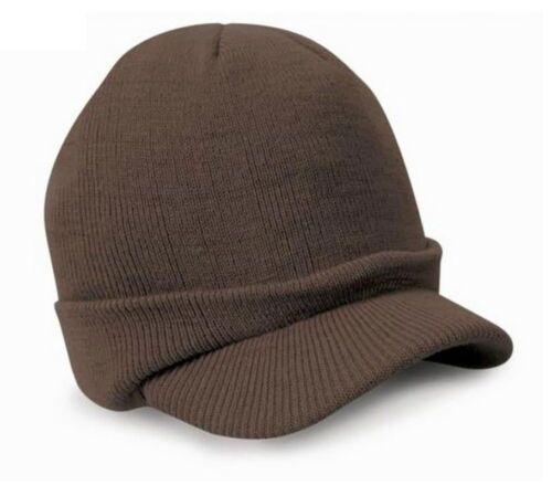 Unisex Esco abbia raggiunto l/'apice dell/'Esercito Cappello Beanie Caldo Wooly Inverno Da Uomo//Donna Cadet Cappello Da Sci