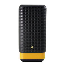 COHIBA Black&Yellow Leather Embossed Cedar Lined 3 Tube Cigar Case Holder