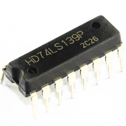 5 PCS HD74LS139 HD74LS139P 74LS139 DIP IC HITACHI NEW
