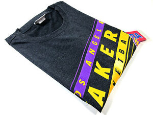 NBA-MEN-039-S-LOS-ANGELES-LAKERS-PERFORMANCE-TEE-GRAY-M-NEW-100-AUTHENTIC