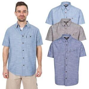Trespass-Slapton-Mens-Short-Sleeve-Smart-Casual-Shirt-Summer-Top-With-Buttons