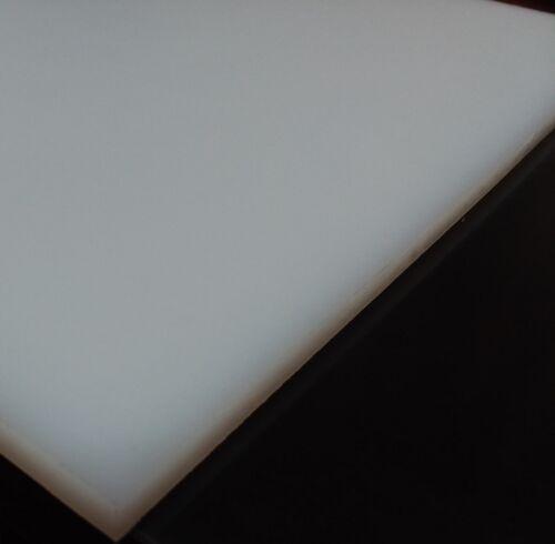 "* UHMW plastic 1//2/"" x 8.5/"" x 11/"" white UHMW"