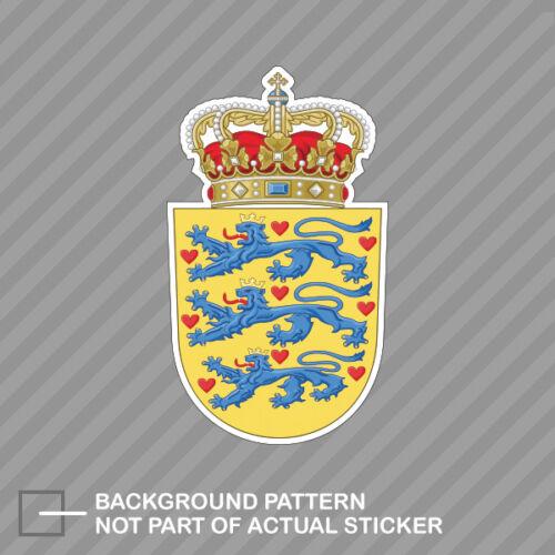Danish Coat of Arms Sticker Decal Vinyl Denmark flag DNK DK