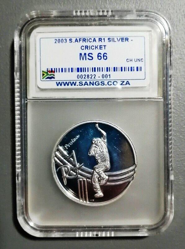 2003 Protea Cricket Silver R1 - MS66 Graded