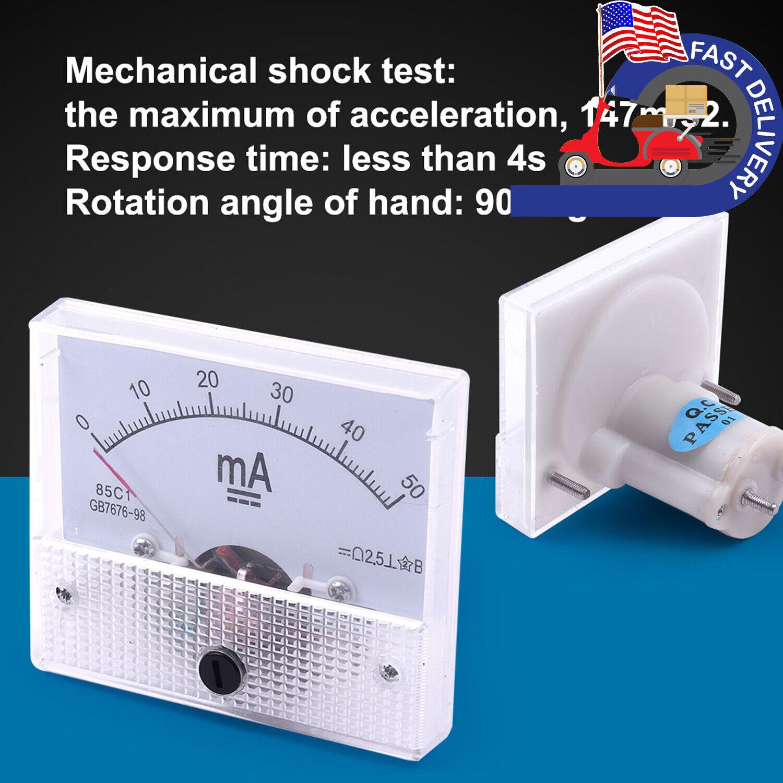 5er Pack DC Analog Panel Mini AMP Messgerät Messgerät Tester Amperemeter 91C4